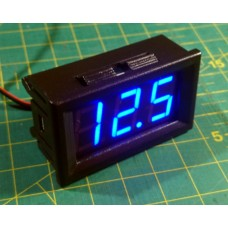 Voltage Display, 10 - 30V DC, 7-segmet LED, Blue